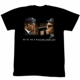 The Blues Brothers T-shirt Movie Another Mission Adult Black Tee Shirt