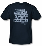 The Blues Brothers T-shirt Movie Band Back Adult Navy Blue Tee Shirt