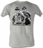The Blues Brothers T-shirt Movie Black and Blue Adult Grey Tee Shirt