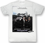 The Blues Brothers T-shirt Movie Blue Sunshine Adult White Tee Shirt