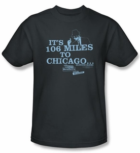The Blues Brothers T-shirt Movie Chicago Adult Charcoal Tee Shirt