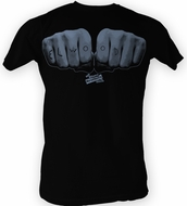 The Blues Brothers T-shirt Movie Elwood Hand Adult Black Tee Shirt