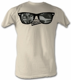 The Blues Brothers T-shirt Movie Glasses Blues Adult Natural Tee Shirt