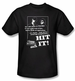 The Blues Brothers T-shirt Movie Hit It Adult Black Tee Shirt
