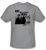 The Blues Brothers T-shirt Movie Mission Adult Silver Tee Shirt