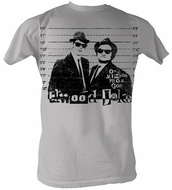 The Blues Brothers T-shirt Movie Mission From God Light Grey Shirt