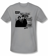 The Blues Brothers T-shirt Movie Mission Silver Slim Fit Tee Shirt