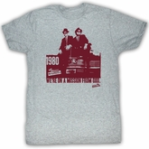 The Blues Brothers T-shirt Movie Mission Statement Adult Grey Shirt