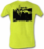 The Blues Brothers T-shirt Movie The Mission Adult Bright Yellow Shirt