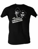 The Blues Brothers T-shirt Profile Adult Black Tee Shirt