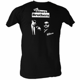 The Blues Brothers T-shirt Simple Adult Black Tee Shirt