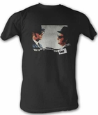 The Blues Brothers t-Shirt - We're On a Mission From God Adult Black