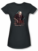 The Hobbit Juniors Shirt Movie Unexpected Journey Dori Charcoal Tee