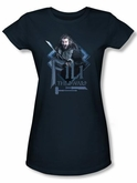 The Hobbit Juniors Shirt Movie Unexpected Journey Fili Navy Blue Tee