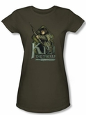The Hobbit Juniors Shirt Movie Unexpected Journey Kili Green Tee