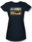 The Hobbit Juniors Shirt Movie Unexpected Journey Navy Tee T-shirt