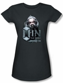 The Hobbit Juniors Shirt Movie Unexpected Journey Oin Charcoal Tee