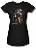 The Hobbit Juniors Shirt Movie Unexpected Journey Painting Black Tee