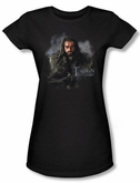 The Hobbit Juniors Shirt Movie Unexpected Journey Thorin Black Tee