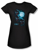 The Hobbit Juniors Shirt Movie Unexpected Journey Warg Moon Black Tee
