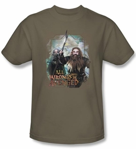 The Hobbit Kids Shirt Unexpected Journey Wrongs Avenged Green Tee