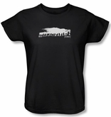 The Hobbit Ladies Shirt Movie Unexpected Journey Company Black Tee