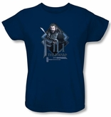 The Hobbit Ladies Shirt Movie Unexpected Journey Fili Navy Blue Tee
