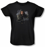 The Hobbit Ladies Shirt Movie Unexpected Journey Thorin Black Tee