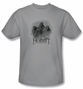 The Hobbit Shirt Movie Unexpected Journey 3 Trolls Silver Slim Fit Tee