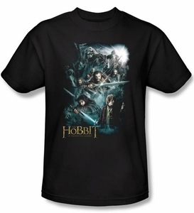 The Hobbit Shirt Movie Unexpected Journey Adventure Adult Black Tee