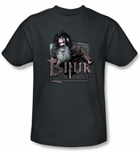 The Hobbit Shirt Movie Unexpected Journey Bifur Adult Charcoal T-shirt