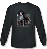 The Hobbit Shirt Movie Unexpected Journey Bifur Charcoal Long Sleeve
