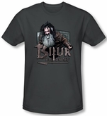 The Hobbit Shirt Movie Unexpected Journey Bifur Charcoal Slim Fit Tee
