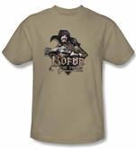 The Hobbit Shirt Movie Unexpected Journey Bofur Adult Sand T-shirt