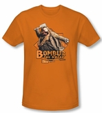 The Hobbit Shirt Movie Unexpected Journey Bombur Orange Slim Fit Tee