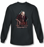 The Hobbit Shirt Movie Unexpected Journey Dori Charcoal Long Sleeve