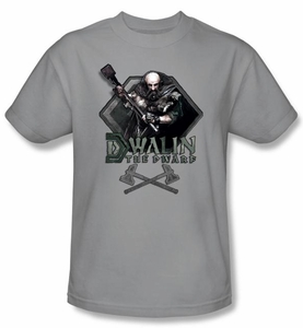 The Hobbit Shirt Movie Unexpected Journey Dwalin Adult Silver T-shirt
