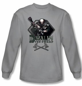 The Hobbit Shirt Movie Unexpected Journey Dwalin Silver Long Sleeve