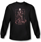 The Hobbit Shirt Movie Unexpected Journey Elrond Black Long Sleeve