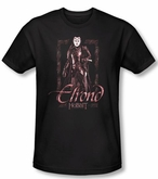 The Hobbit Shirt Movie Unexpected Journey Elrond Black Slim Fit Tee