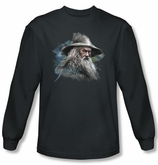 The Hobbit Shirt Movie Unexpected Journey Gandalf Charcoal Long Sleeve