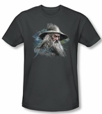 The Hobbit Shirt Movie Unexpected Journey Gandalf Charcoal Slim Fit