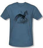 The Hobbit Shirt Movie Unexpected Journey Great Eagle Slate Slim Fit