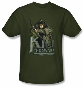 The Hobbit Shirt Movie Unexpected Journey Kili Adult Green Tee T-shirt