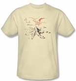 The Hobbit Shirt Movie Unexpected Journey Mountain Adult Cream T-shirt