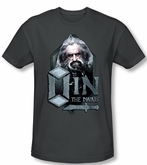 The Hobbit Shirt Movie Unexpected Journey Oin Adult Charcoal T-shirt