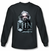 The Hobbit Shirt Movie Unexpected Journey Oin Charcoal Long Sleeve