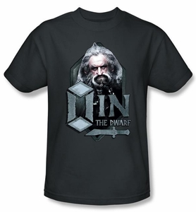 The Hobbit Shirt Movie Unexpected Journey Oin Charcoal Slim Fit Tee