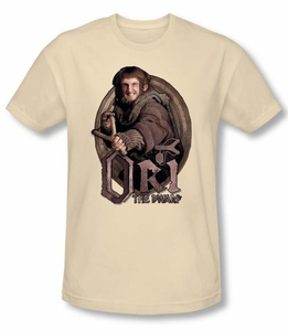 The Hobbit Shirt Movie Unexpected Journey Ori Cream Slim Fit Tee