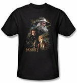 The Hobbit Shirt Movie Unexpected Journey Painting Adult Black Tee